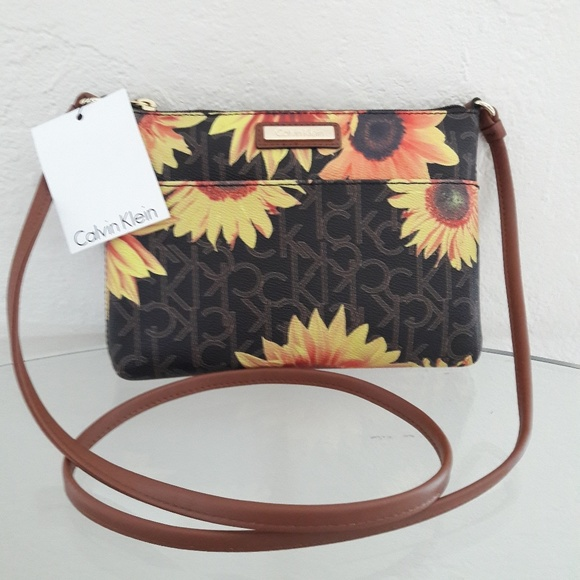 4df54976e95 Calvin Klein Bags   Nwt Mini Sunflower Crossbody Bag   Poshmark